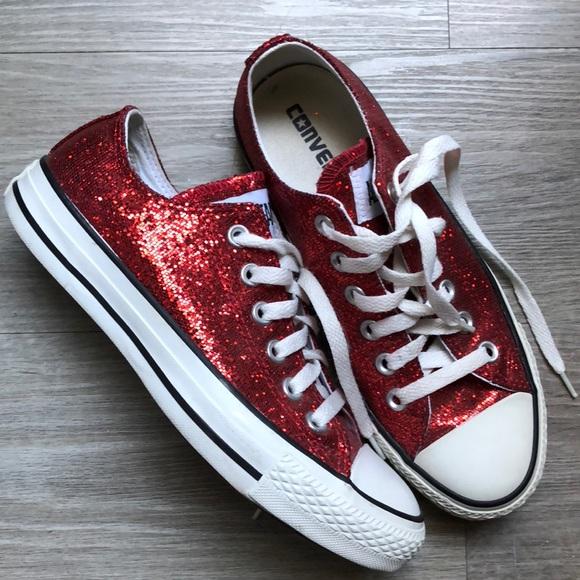 da8d63053162 Converse Shoes - Glitter Bling Converse 🌺